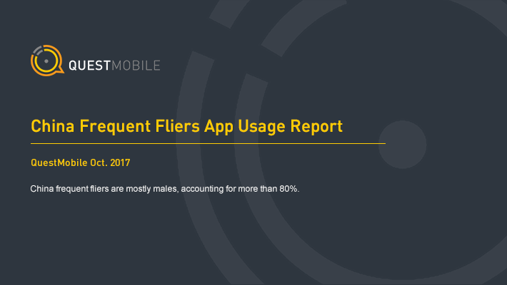 QuestMobile: China Frequent Fliers App Usage Report